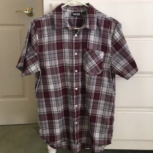 Vans Off The Wall plaid polo shirt small
